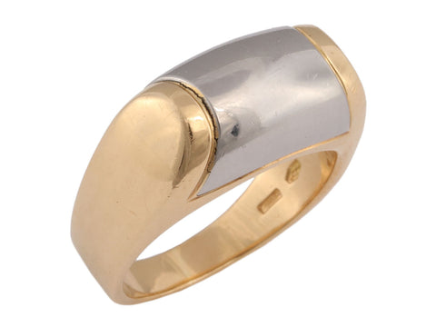 Bulgari Two Tone Tronchetto Ring
