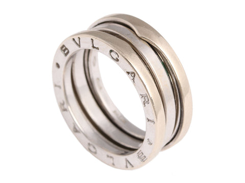 Bulgari 18K White Gold Two-Band B.zero1 Ring