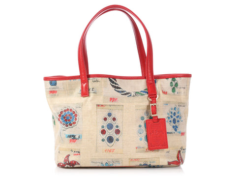 Bulgari Small Canvas Print Tote