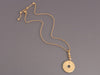 Bulgari 18K Gold Flat Disc Drop Necklace