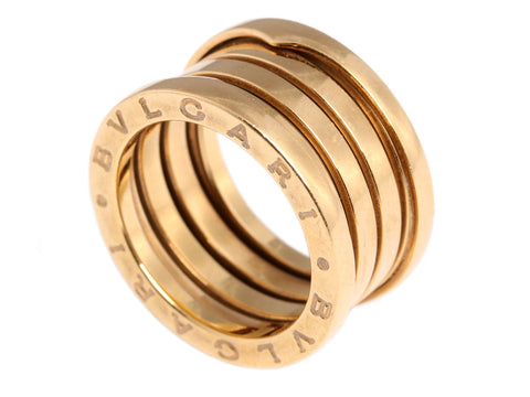Bulgari 18K Gold B.zero1 Four-Band Ring