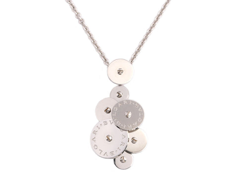Bulgari 18K White Gold Cicladi Rotating Disc Necklace