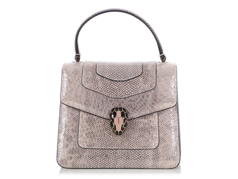 Bulgari Crystal Rose Karung Serpenti Forever Crossbody Bag