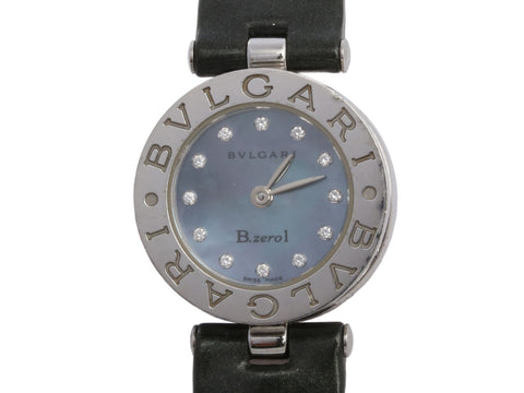 Bulgari Stainless Steel Diamond B.zero1 Watch 22mm