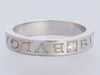 Bulgari Bulgari 18K White Gold Diamond Band Ring