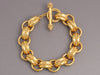 18K Gold Hammered Chain Bracelet