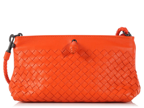 Bottega Veneta Small Orange Shoulder Bag