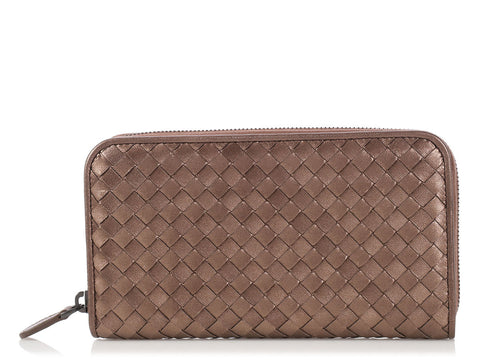 Bottega Veneta Armatura Zip Around Continental Wallet