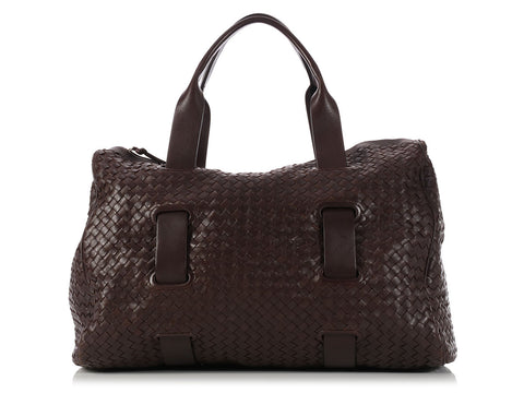 Bottega Veneta Brown Accordion Satchel