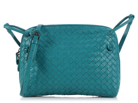 Bottega Veneta Teal Crossbody Bag