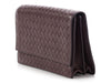 Bottega Veneta Dark Purple Continental Wallet