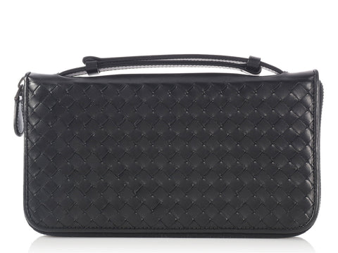 Bottega Veneta Black Handle Clutch Wallet