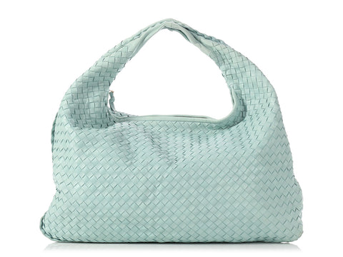 Bottega Veneta Large Light Blue Veneta