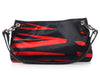 Bottega Veneta Small Red and Black Striped Satin Shoulder Bag
