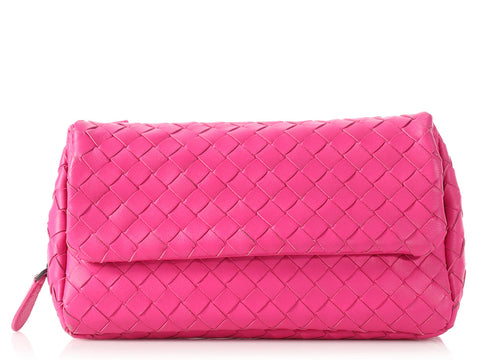 Bottega Veneta Mini Pink Messenger Bag