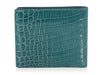 Bottega Veneta Teal Crocodile Bifold Wallet