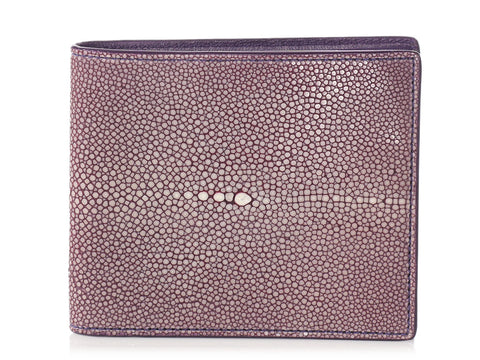 Bottega Veneta Purple Stingray Bifold Wallet