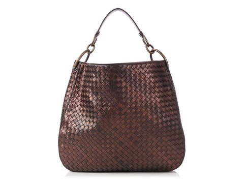 Bottega Veneta Medium Copper Chain Loop Hobo