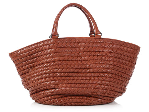Bottega Veneta Brown Basket Tote