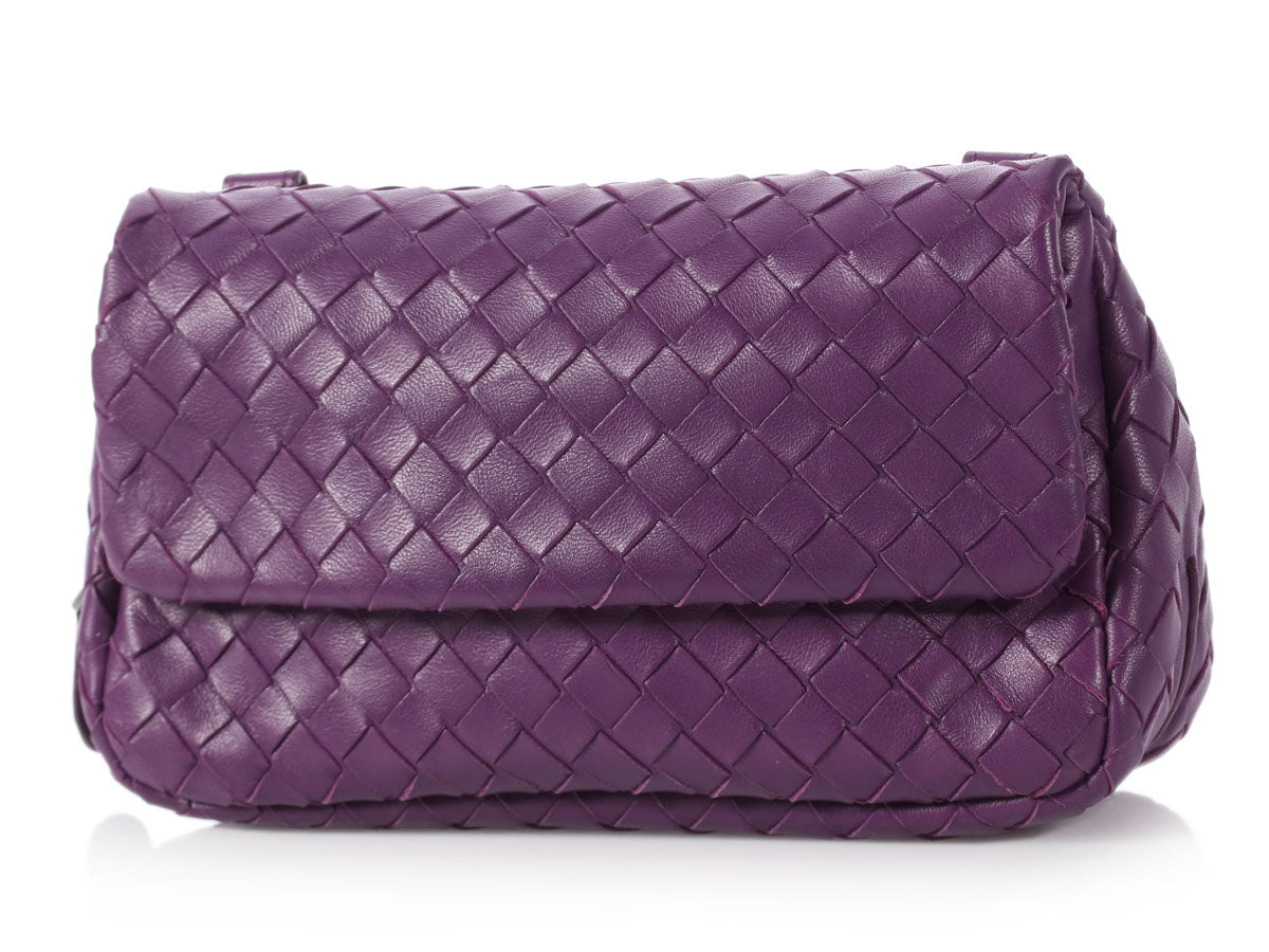 Bottega Veneta Purple Mini Intrecciato Messenger 7c9ad015c2f12