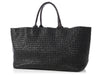 Bottega Veneta Large Black Ostrich Cabat