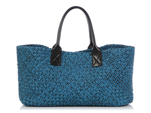 Bottega Veneta 2010 Medium Blue Corda Cabat