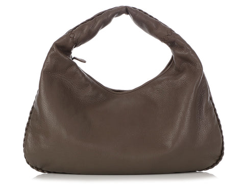 Bottega Veneta Large Steel Cervo Hobo