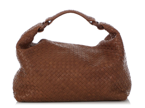 Bottega Veneta Brown Intrecciato Sloane Hobo