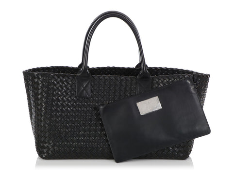 Bottega Veneta Medium Dark Navy Cabat