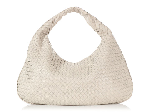 Bottega Veneta Large White Veneta Hobo
