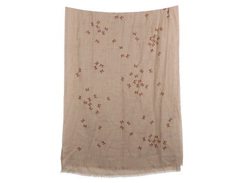 Bottega Veneta Brown Butterfly Cashmere Scarf