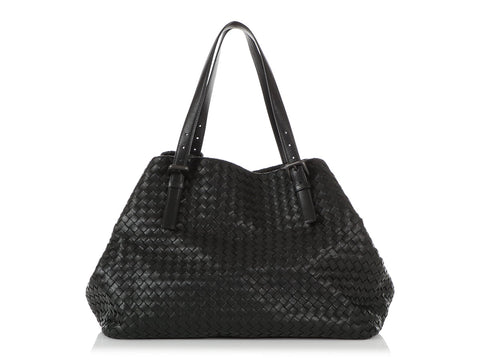 Bottega Veneta Large Black Cesta Tote