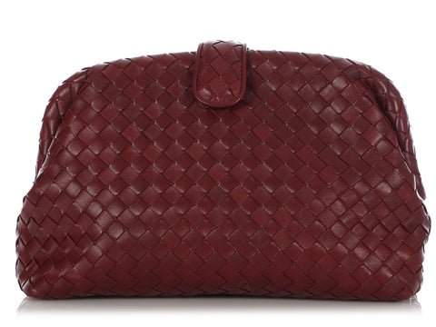 Bottega Veneta Gigolo Red Woven Nappa The Lauren 1980 Clutch