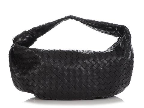 Bottega Veneta Large Black Intrecciato Jodi Hobo