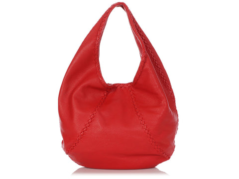 Bottega Veneta Large Fever Red Cervo Hobo