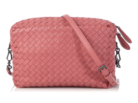Bottega Veneta Small Dusty Rose Intrecciato Camera Bag