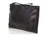 Bottega Veneta Black Perforated Wristlet