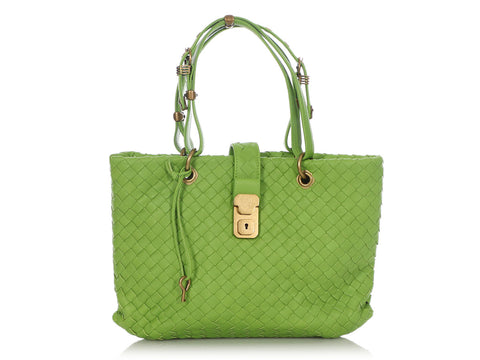 Bottega Veneta Small Lime Green Capri Tote