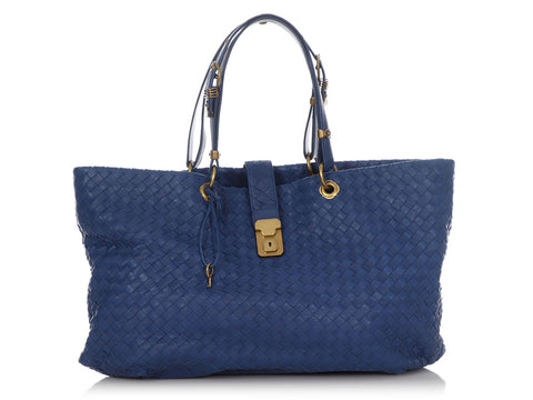 Bottega Veneta Large Blue Capri Tote