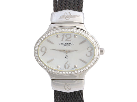 Charriol Darling Stainless Steel Diamond Oval Watch