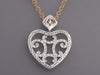 Charriol Darling 18K Gold Diamond Heart Pendant Necklace
