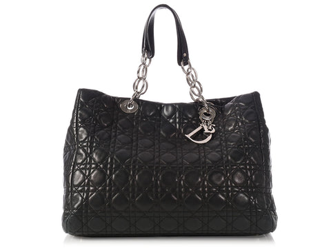 Dior Black Soft Shopping Tote