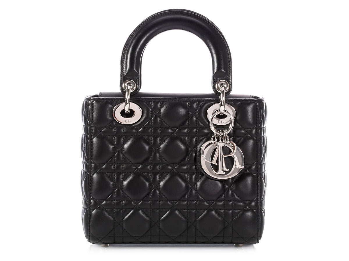 Dior Small Black Lambskin Lucky Badges Bag