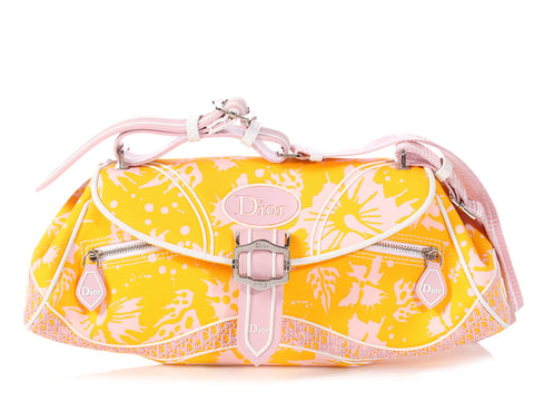 Dior Yellow And Pink Crossbody Bag
