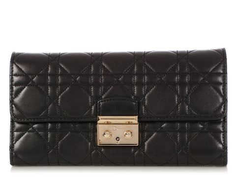 Dior Black Rendez-Vous Wallet on a Chain WOC