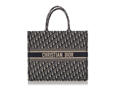 Dior Navy Oblique Book Tote