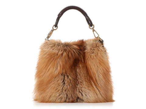 Dior Brown Fur Libertine Tote