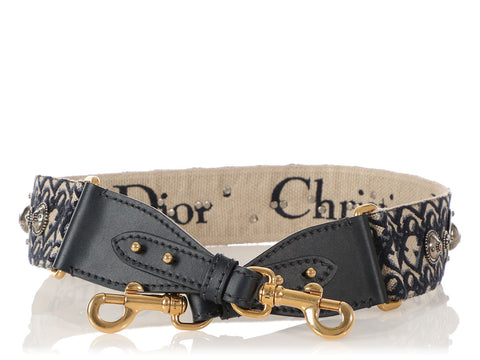Dior Navy Oblique Shoulder Strap