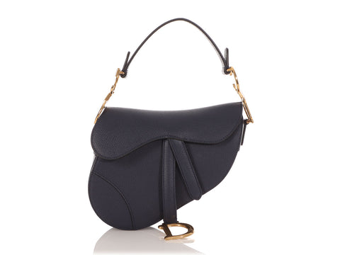 Dior Mini Indigo Saddle Bag