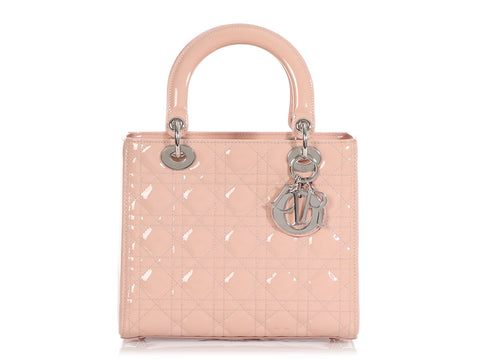 Dior Medium Pink Patent Lady Dior